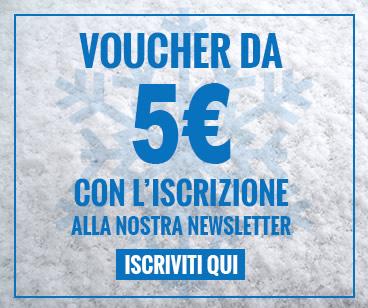 Iscriviti subito alla newsletter Mancini Store per ricevere un coupon di 5€